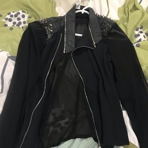 See-through over jackets